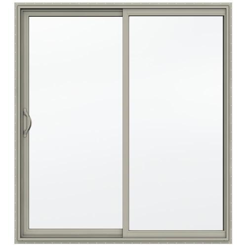Jeld Wen Builders Series 60 X 80 Vinyl Sliding Patio Door At Menards