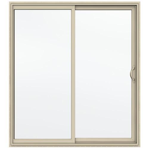 Jeld Wen Builders Series 72 W X 80 H Almond Vinyl Sliding Patio Door At Menards