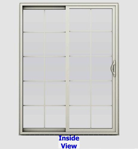 JELD-WEN® Builders Series 10-Lite Vinyl Sliding Patio Door