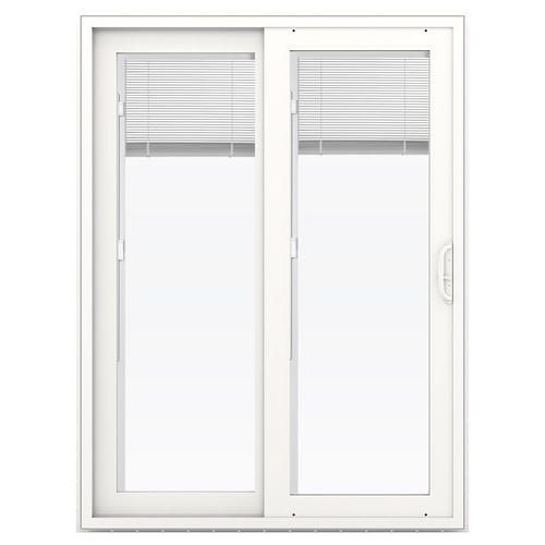 Jeld wen premium series 60 x 80 vinyl sliding patio door with jeld wen premium series 60 x 80 vinyl sliding patio door with internal blinds at menards planetlyrics Choice Image