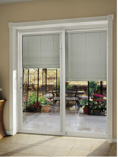 Jeld Wen Premium Series Vinyl Internal Blinds Sliding Patio Door At Menards