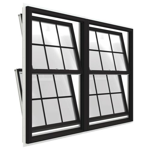 Jeld Wen Premium Series 72 W X 60 H Vinyl Twin Double Hung Window With Nailing Flange At Menards