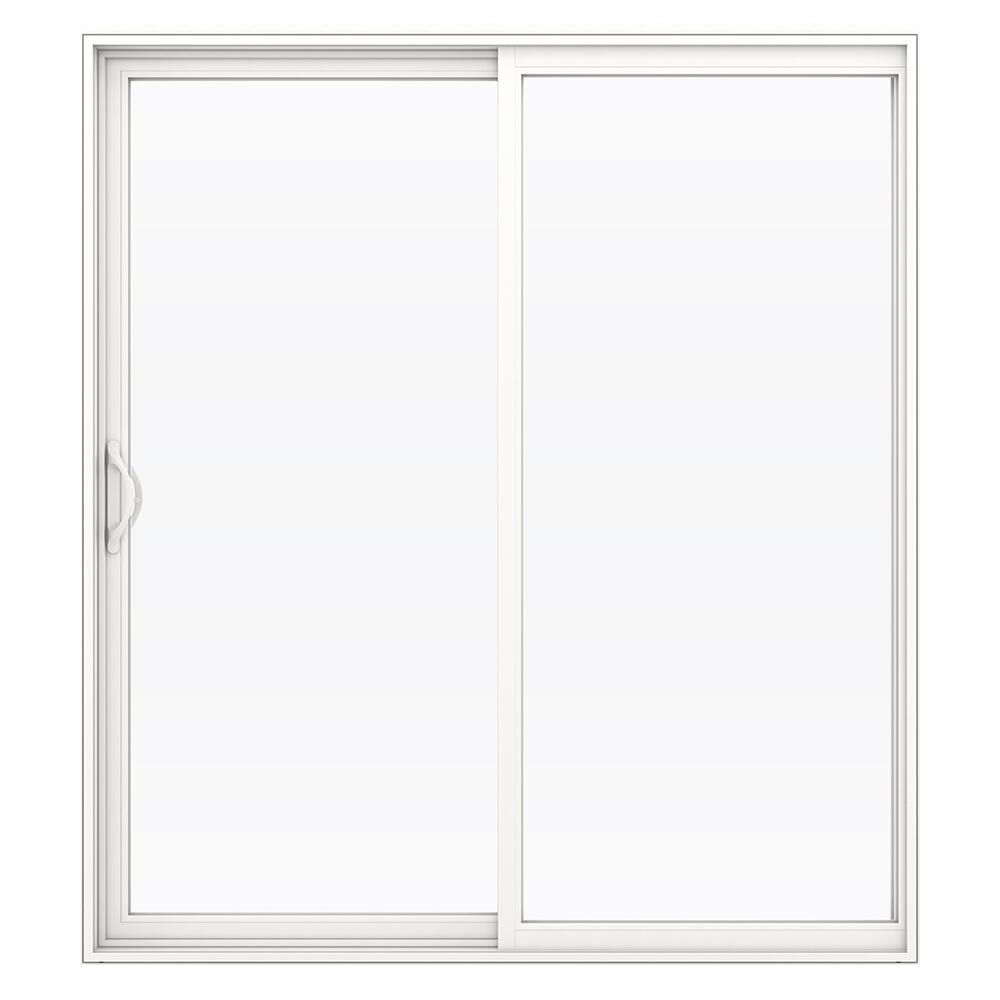 Jeld Wen Builders Series White Vinyl Reversible Sliding Patio Door At Menards
