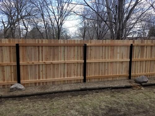 Ac2 5 X 8 Ground Contact Pressure Treated Flat Side Round Fence Post At Menards