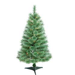 Enchanted Forest® 4' Prelit Cashmere Artificial Christmas Tree