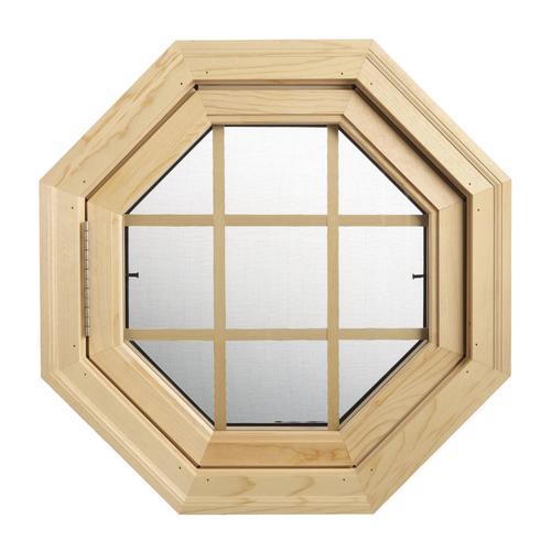 Venting Wood Octagon Window