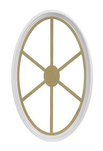 Jjj Specialty White Poly 20 14 X 31 34 Fixed Oval Window