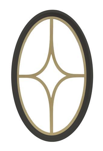 Jjj Specialty Bronze Poly 20 14 X 31 34 Fixed Oval