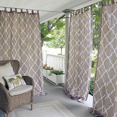 Elrene Home Fashions Corado Indoor Outdoor Velcro Tab Top Light Filtering Panel 50 W