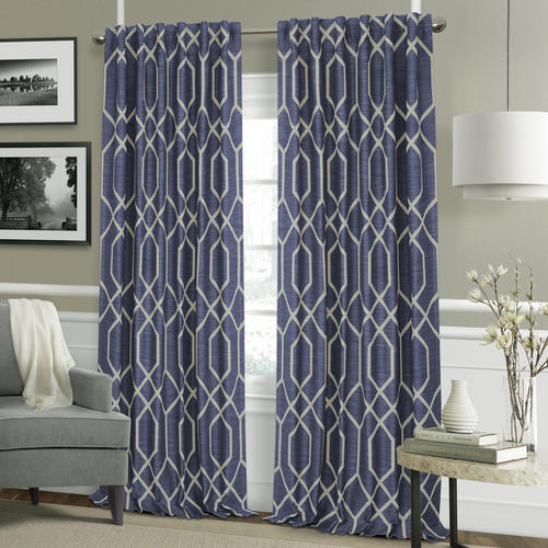 "Elrene Home Fashions Devin Rod Pocket Blackout Curtain Panel 52""W x 84""L"