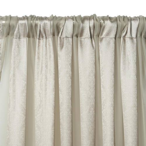 """Elrene Home Fashions Enza Rod Pocket Light Filtering Curtain Panel 52""""W x 95""""L"""