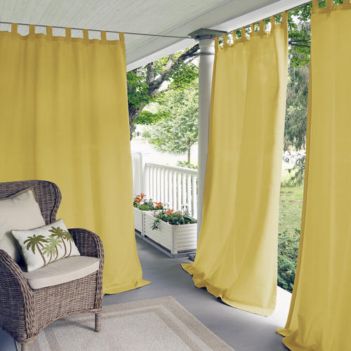 """Elrene Home Fashions Matine Indoor/Outdoor Tab Top Curtain Panel 52""""W x 84""""L"""