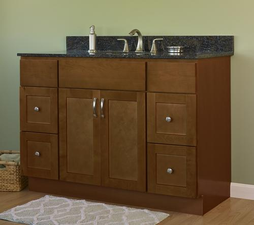 Jsi Amesbury 48 Quot W X 21 Quot D Brown Bathroom Vanity Cabinet At