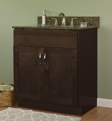 "JSI Amesbury 30""W x 21""D Espresso Bathroom Vanity Cabinet ..."