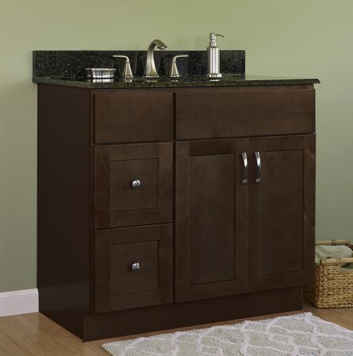Jsi Amesbury 36 W X 21 D Espresso Bathroom Vanity Cabinet At Menards