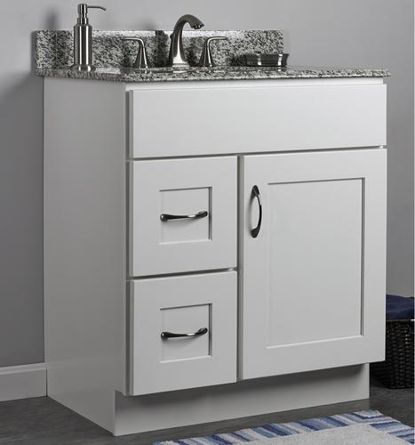 "JSI Dover 30""W x 21""D White Bathroom Vanity Cabinet at ..."