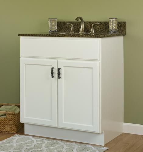 """JSI Plymouth 30""""W x 21""""D White Bathroom Vanity Cabinet at ..."""