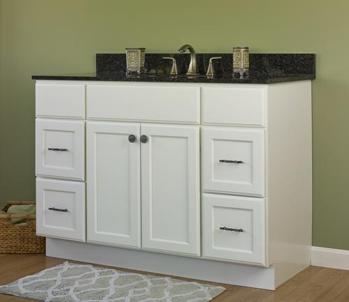 Jsi Plymouth 48 W X 21 D White Bathroom Vanity Cabinet