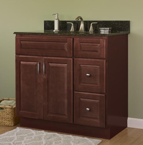 Cherry Bathroom Vanity Cabinet
