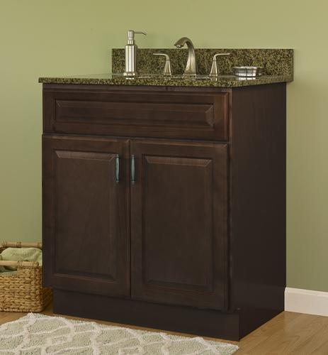 "JSI Quincy 24""W x 21""D Espresso Bathroom Vanity Cabinet at ..."
