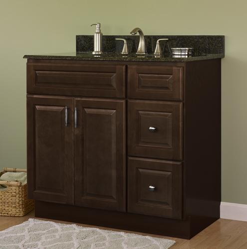 Jsi Quincy 36 W X 21 D Espresso Bathroom Vanity Cabinet At Menards