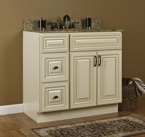 Jsi Wheaton 36 W X 21 D Cream Bathroom Vanity Cabinet