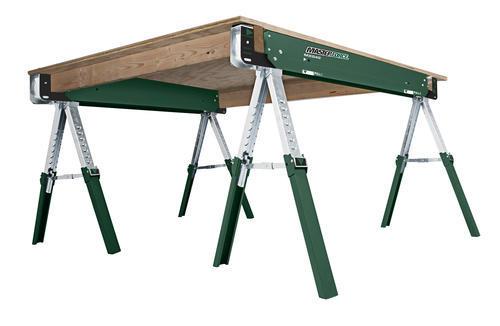 Genial Masterforce® Adjustable Folding Steel Sawhorse At Menards®