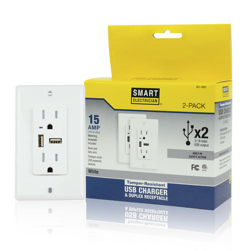15 Amp Usb Charging Duplex Outlet