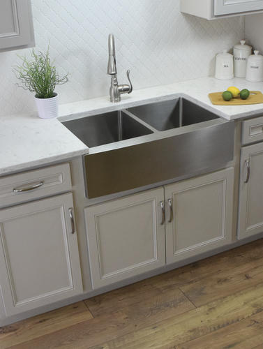 Karran Farmhouse A Front 36 Stainless Steel Kitchen Sink