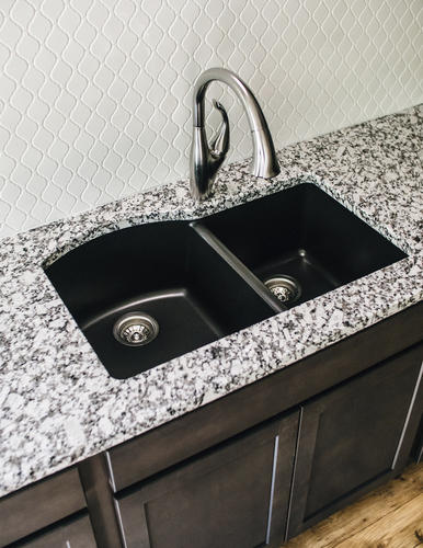 "Karran Undermount 32"" Quartz Double Bowl Kitchen Sink At"