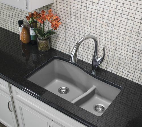 Quartz Double Bowl Kitchen Sink