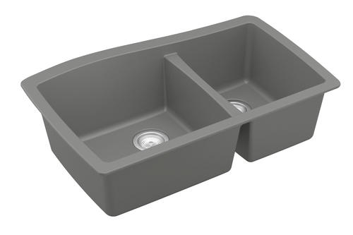 "Karran Undermount 33"" Quartz Double Bowl Kitchen Sink At"