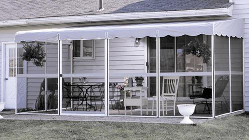 Miraculous Patio Mate Screened Enclosure 8 6 X 17 1 White Gray Interior Design Ideas Clesiryabchikinfo