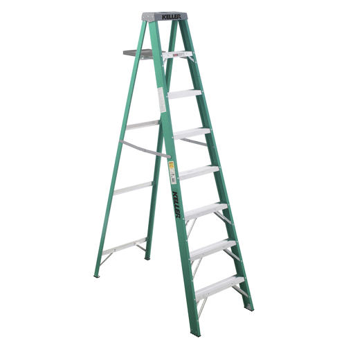 Amazing Keller 8 Type Ii Fiberglass Step Ladder With Pail Shelf Gmtry Best Dining Table And Chair Ideas Images Gmtryco