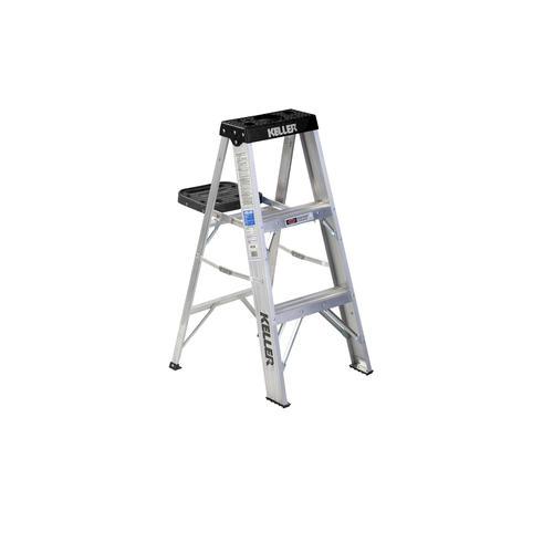Astonishing Keller 903K 3 Type Ia Aluminum Step Ladder 300 Lb Max At Cjindustries Chair Design For Home Cjindustriesco