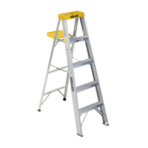Remarkable Keller 925 5 Type Ii Aluminum Step Ladder 225 Lb Max At Cjindustries Chair Design For Home Cjindustriesco