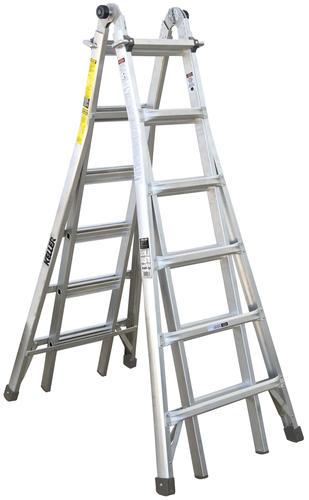 Keller Kpro Type Ia Aluminum Telescoping Multi Position Ladder 300 Lb Max At Menards
