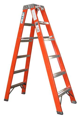 Keller® KPro M8706 6\' Type IA Fiberglass Twin Ladder 300 lb. Max at ...