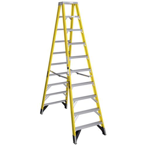Keller Type Iaa Fiberglass Twin Step Ladder 375 Lb Max At Menards