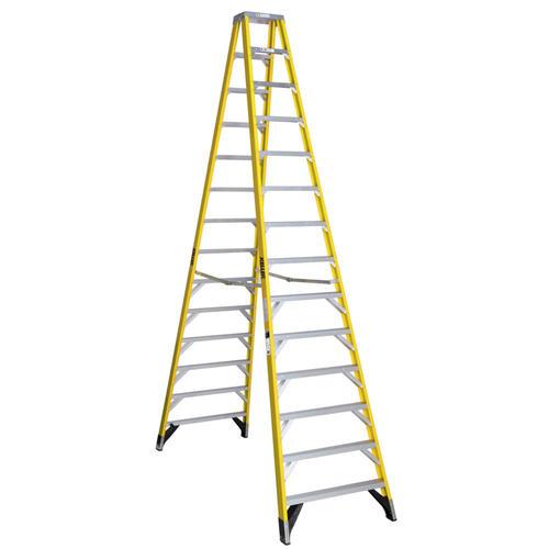 Keller® T10714 14\' Type IA Fiberglass Twin Ladder 300 lb. Max at ...