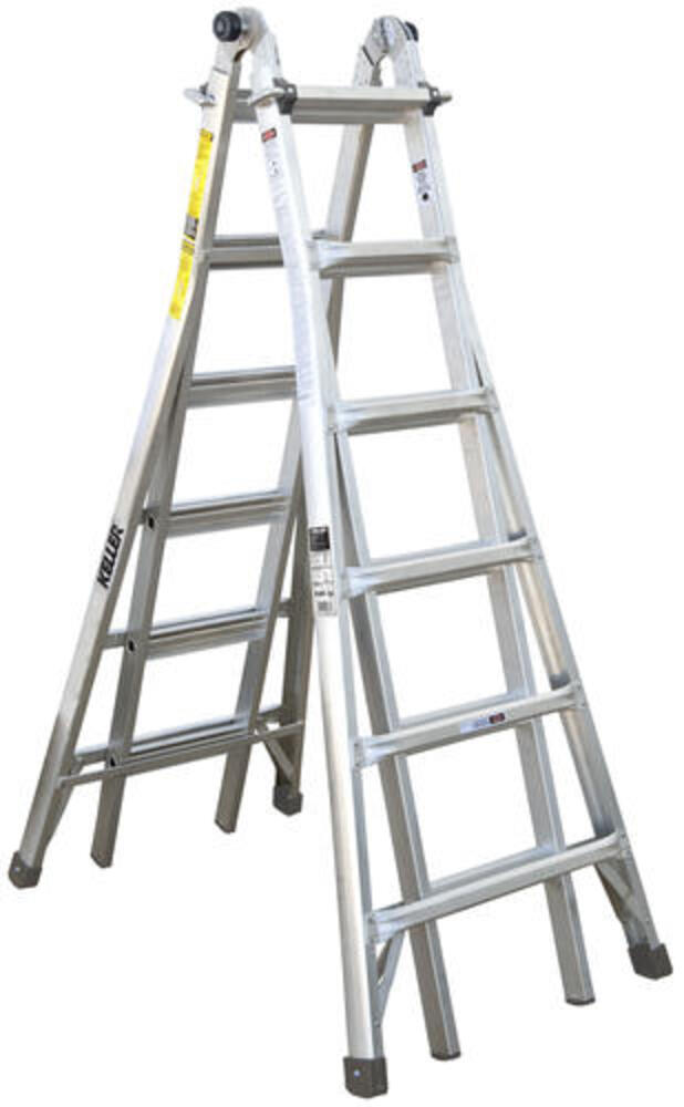 Keller Kpro Type Ia Aluminum Telescoping Multi Position Ladder 300 Lb Max At Menards