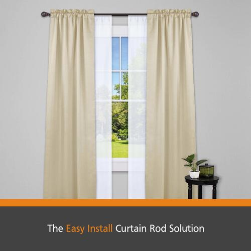 Easy Install Double Curtain Rod