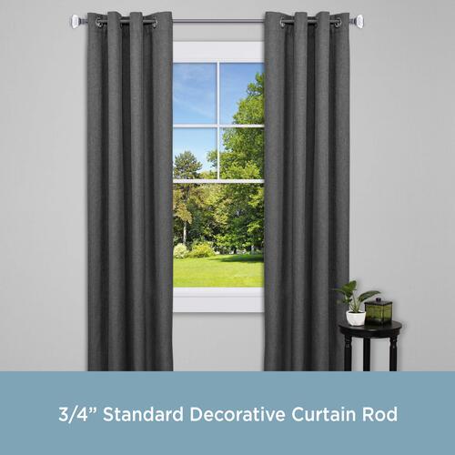 Kenney 66 120 Standard Decorative Curtain Rod At Menards