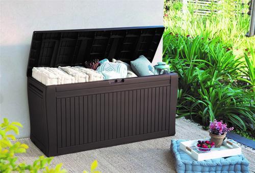 Enjoyable Keter Comfy 71 Gallon Resin Deck Box At Menards Machost Co Dining Chair Design Ideas Machostcouk