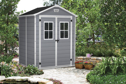 keter manor 6 x 5 sd outdoor storage shed at menards - Garden Sheds 6 X 6