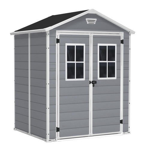 keter manor 6 x 5 sd outdoor storage shed at menards
