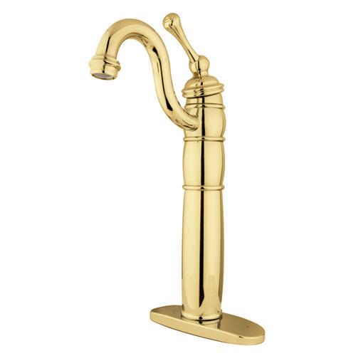 Kingston Brass Heritage One Handle Polished Brass Vessel Bathroom Faucet At Menards