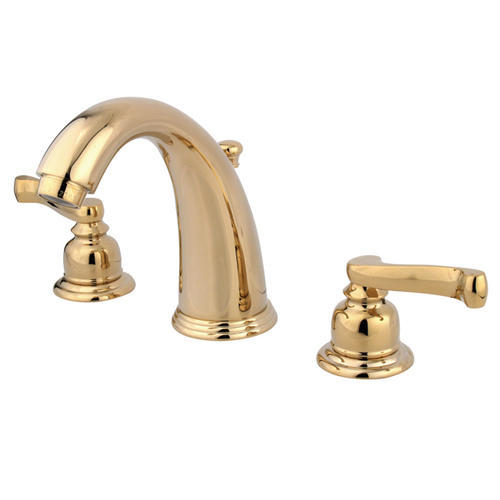 """Kingston Brass Royale Two-Handle 8"""" Widespread Bathroom Faucet Polished Brass"""