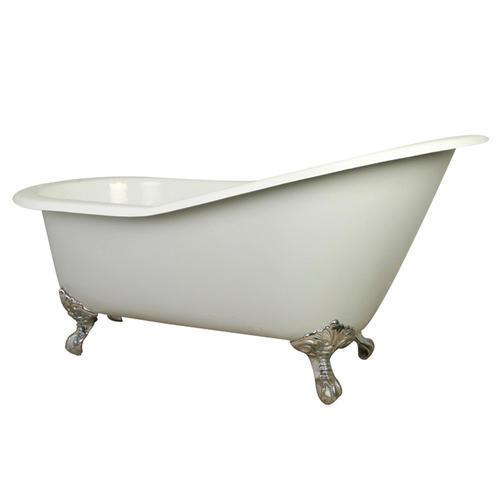 "kingston brass queen anne 65"" w x 31"" d roller bathtub at menards®"