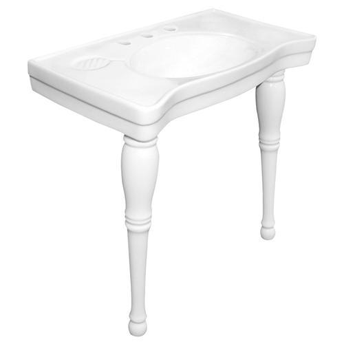 Kingston Brass Imperial White China Wall Mount Pedestal ...